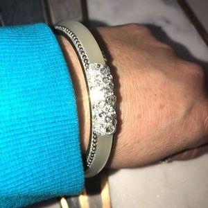 Vintage Jewelry - Vintage silver bangle
